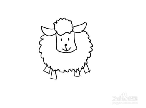简笔画之如何画一只绵羊图片