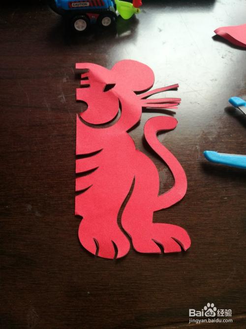 儿童趣味剪纸:十二生肖老虎图片