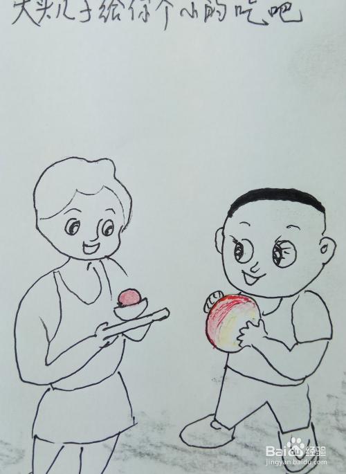 胖妈妈简笔画_怎样画儿童简笔画\