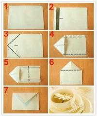 超简单的折纸 信封的折法图片