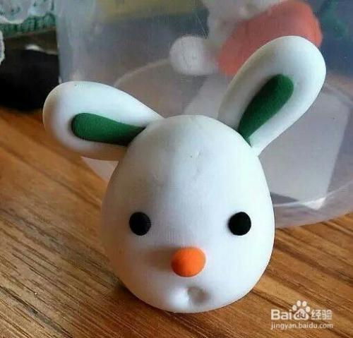 如何自己动手做橡皮泥小白兔图片