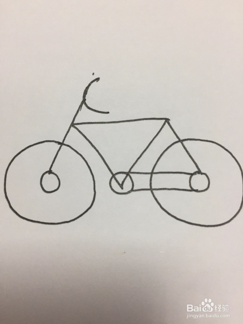 简笔画自行车的画法图片