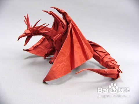 【天の折馆】西方龙头盾折纸实拍教程(上篇)图片