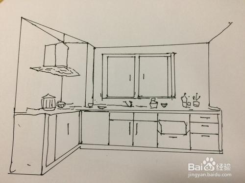厨房怎么画简笔画图片