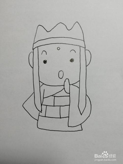 如何画西游记人物卡通简笔画之唐僧图片
