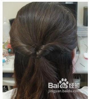 简单公主头发型扎法
