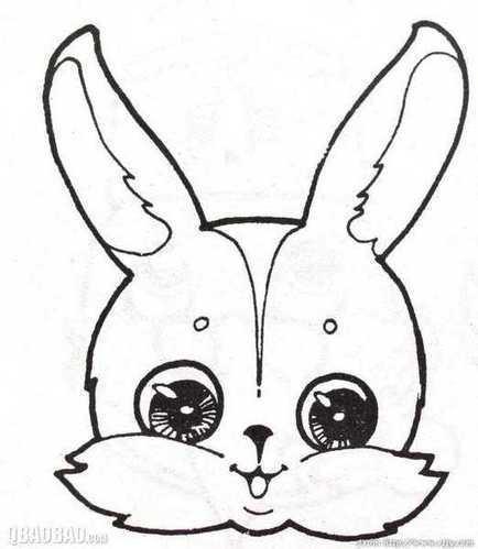 怎样画漂亮的兔子简笔画图片
