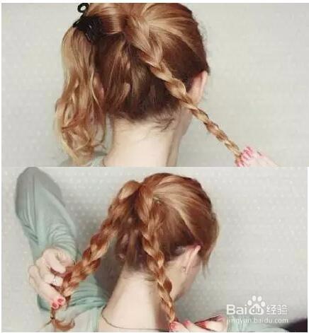 简单丸子头发型扎法图片