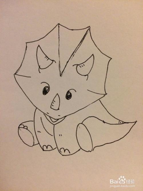 霸王龙和三角龙怎么画图片