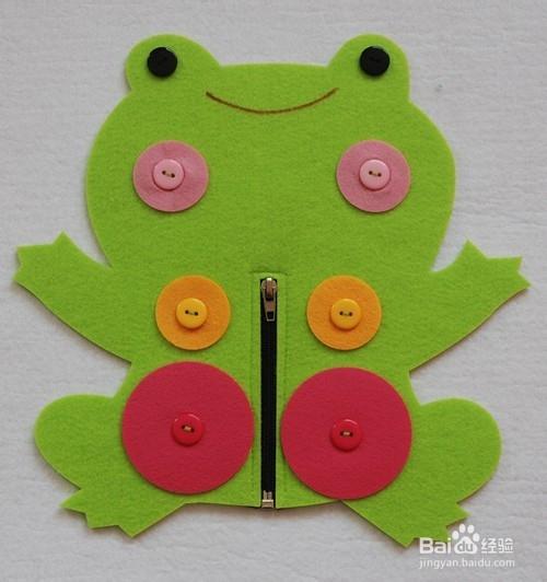 幼儿园手工自制区域区角玩教具:青蛙一家人图片