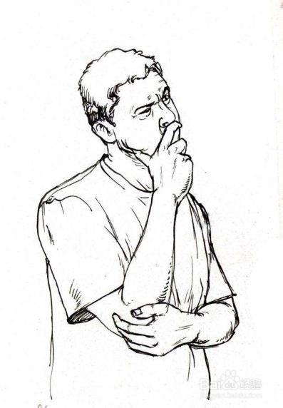人物速写初学者基础教程(六):肢体语言图片