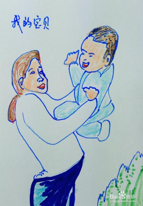 怎样画儿童简笔画妈妈爱宝贝?
