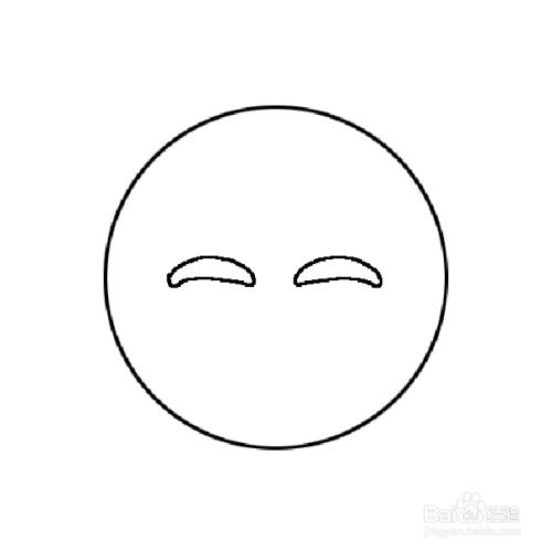 如何画笑哭表情的简笔画_百度经验图片