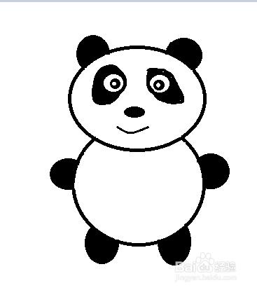 我反正觉得熊猫很可爱,我就来教大家画一只小熊猫. 百度经验:jingyan.图片