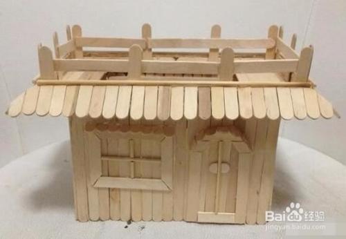 雪糕棍房子制作教程图片