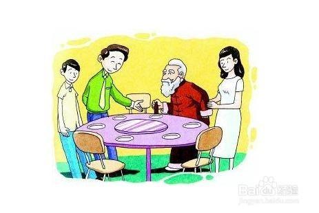 生活/家居 > 生活常识  1 长辈没有上桌吃饭坐下时,我们不能提前坐下图片