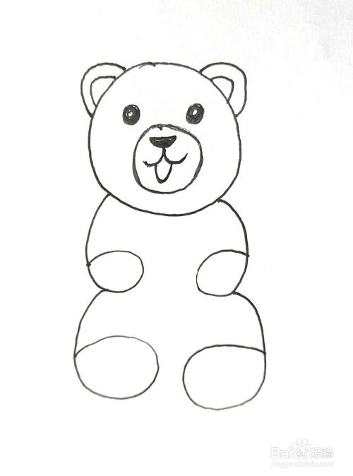 用数字0+6画可爱的小熊简笔画 创意简笔画怎么画图片