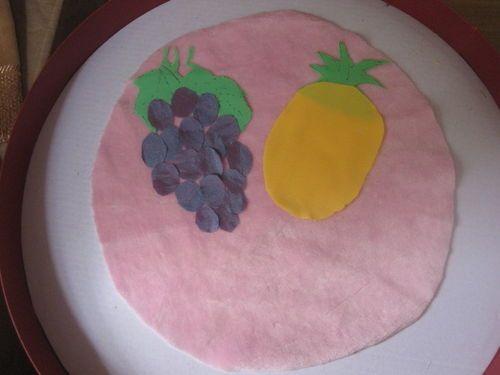 怎样手工制作水果布贴画图片