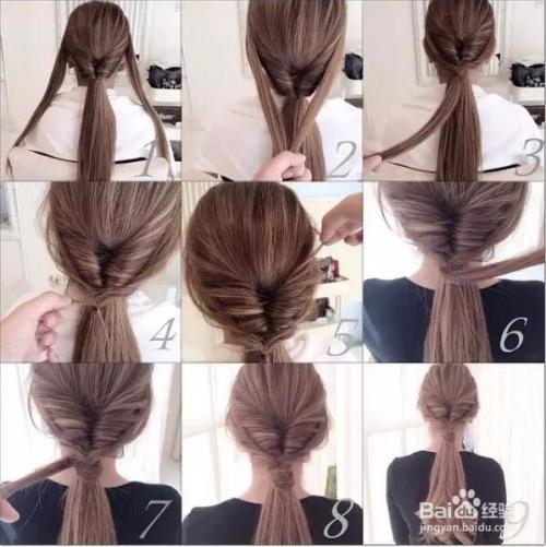 编发发型教程图片