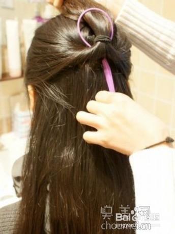 2013韩式发型扎法步骤 优雅淑女系列图片