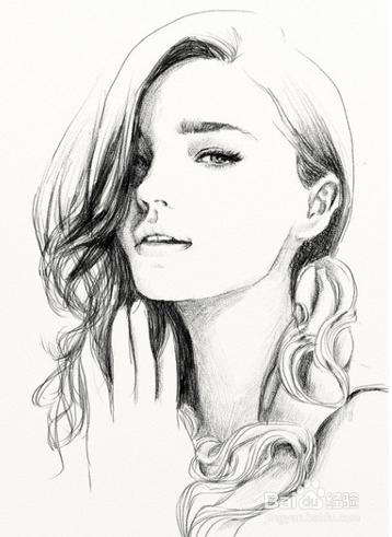 2 如果你想快速的学会素描,可以不用画那么复杂的人头像.图片