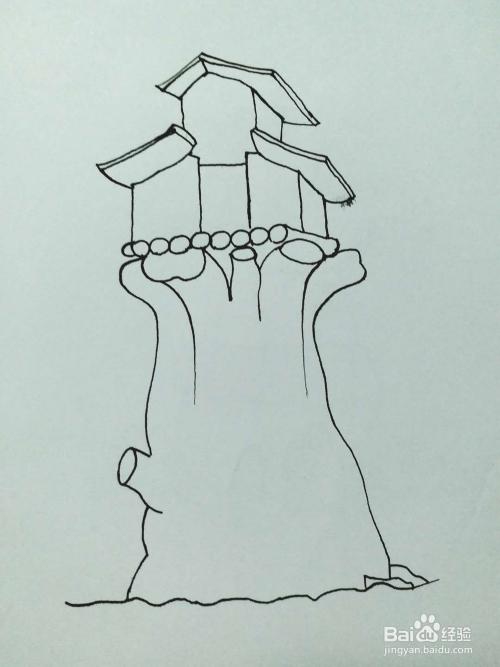 树屋的简笔画法