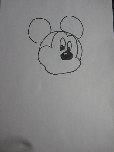 绘画教程:教你画米奇图片
