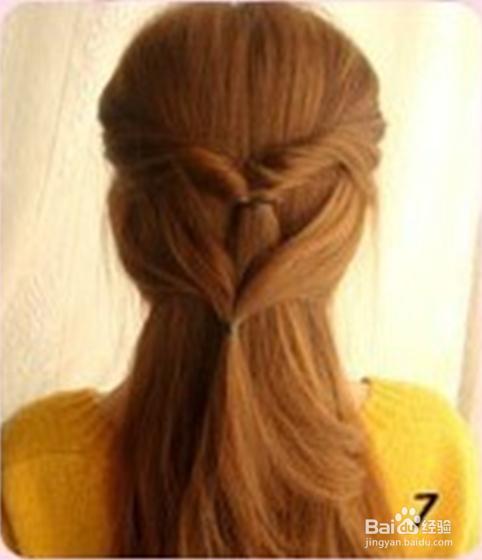 简单扎头发的方法图片