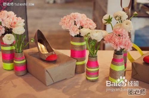 花瓶設計手工制作麻繩花瓶圖片