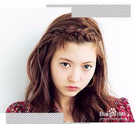 刘海的编发发型图片