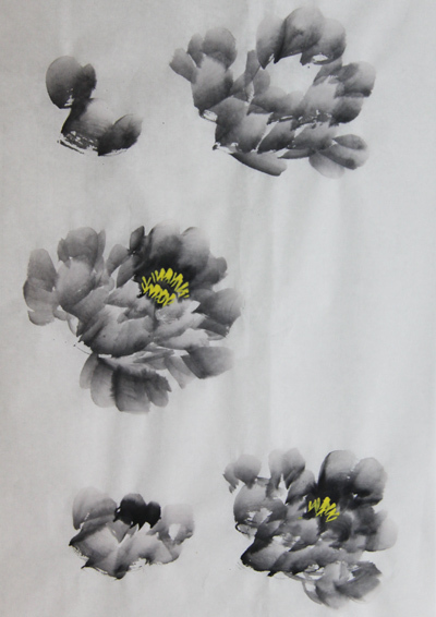 怎样画牡丹画(第一篇)图片