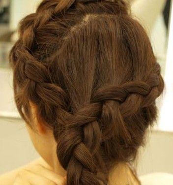 8 韩式麻花辫盘发发型就完成,你是否喜欢呢. end图片