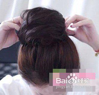 韩式少女丸子头教程图解简约系甜美发型图片