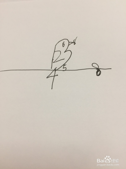 com 今天分享简笔画小鸟,用简单的数字1-10就能画出来哦 百度经验图片