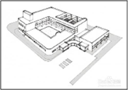 华元手绘建筑快题如何从平面图求出鸟瞰图?图片
