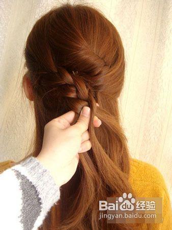 长发怎么扎好看侧麻花辫半扎发教程图解图片