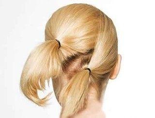 唯美的法式中长发发型盘发图片