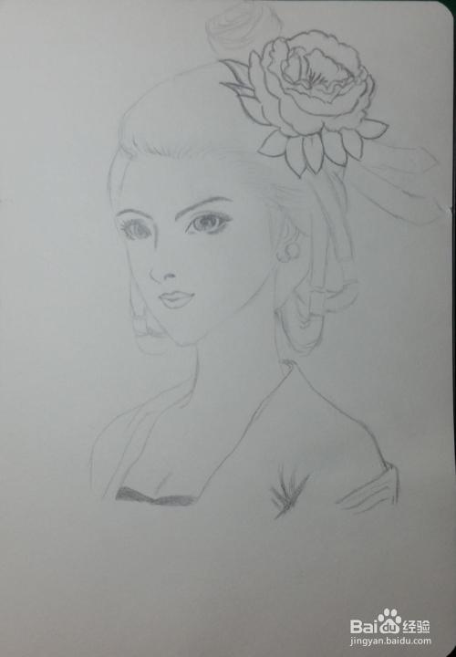 铅笔画——性感美女图片