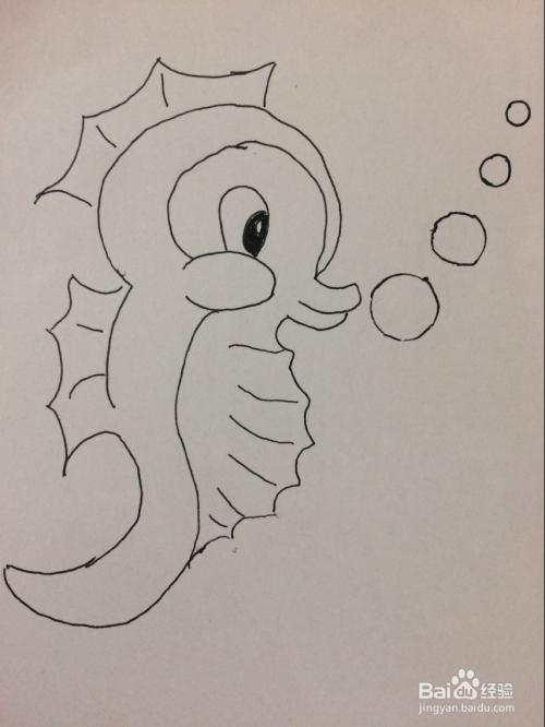 儿童简笔画海马的画法
