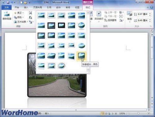 怎样在word2010文档中应用图片样式