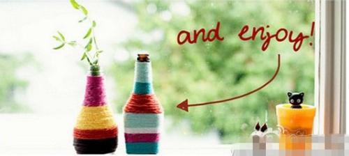 制作漂亮的瓶子工艺品教程图片