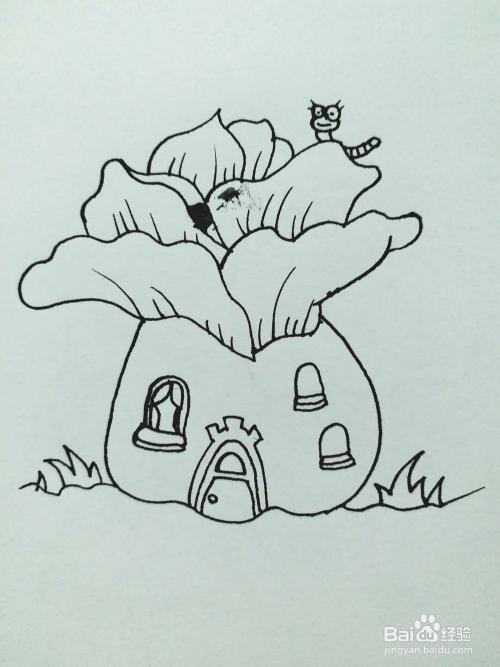 创意白菜房子的简笔画法图片
