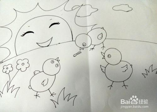 简笔画可爱的小鸡图片