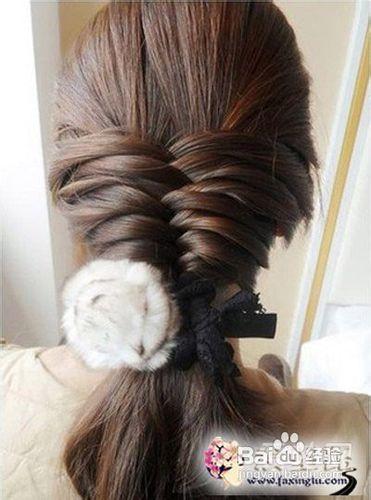 韩式淑女编发盘发图解 打造气质女生发型图片