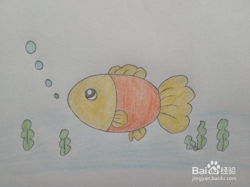 简笔画——怎么画水中的鱼儿图片
