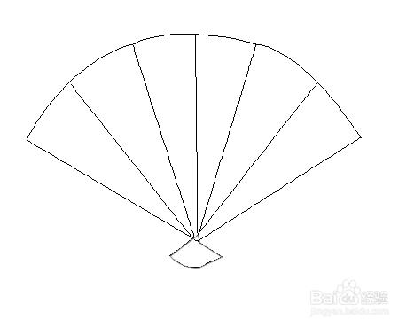 3 为扇子去增加下方合起来的样式,钢笔工具要微调的.图片