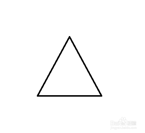 2 在三角形中画线,平分成四等份.图片