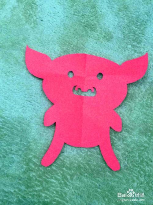 儿童趣味剪纸:十二生肖猪图片