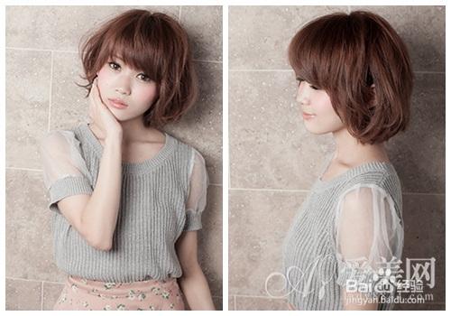 九款夏季短发烫发发型 可爱俏皮风图片