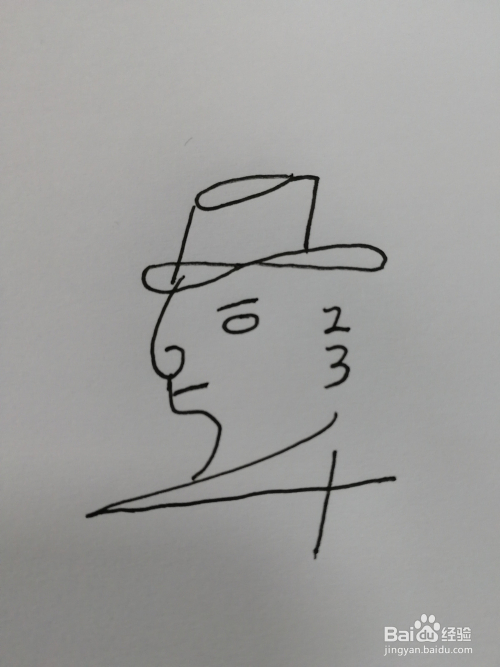 用_简笔画(21)——用数字1-10画一个小人
